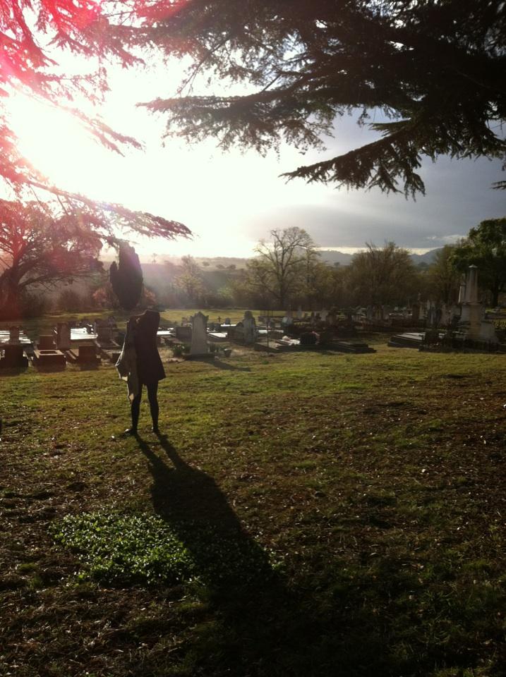 Imogen in Yass Cemetery